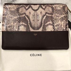 Celine Solo Python Clutch Pouch
